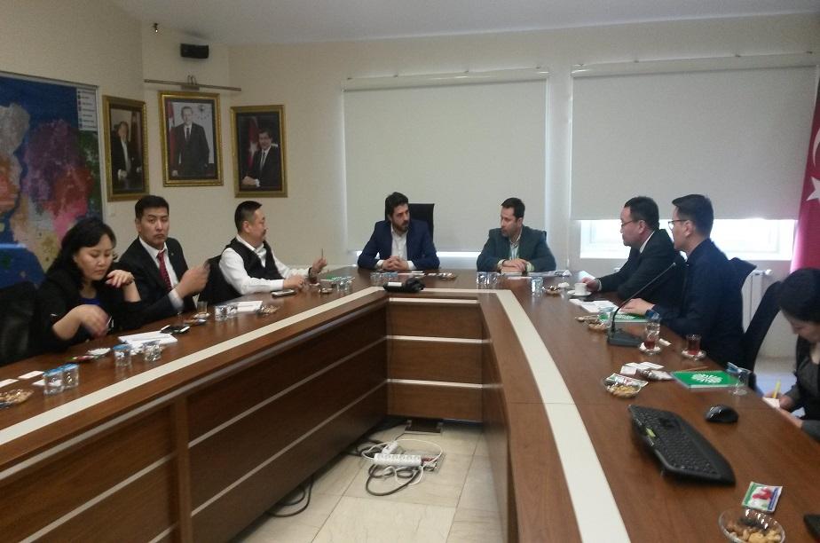 Moğolistan başkenti Ulan Batur Belediye Başkan Yardımcısı Ochirbat Sorogjoo ve beraberindeki heyet İstaç'ı ziyaret etti