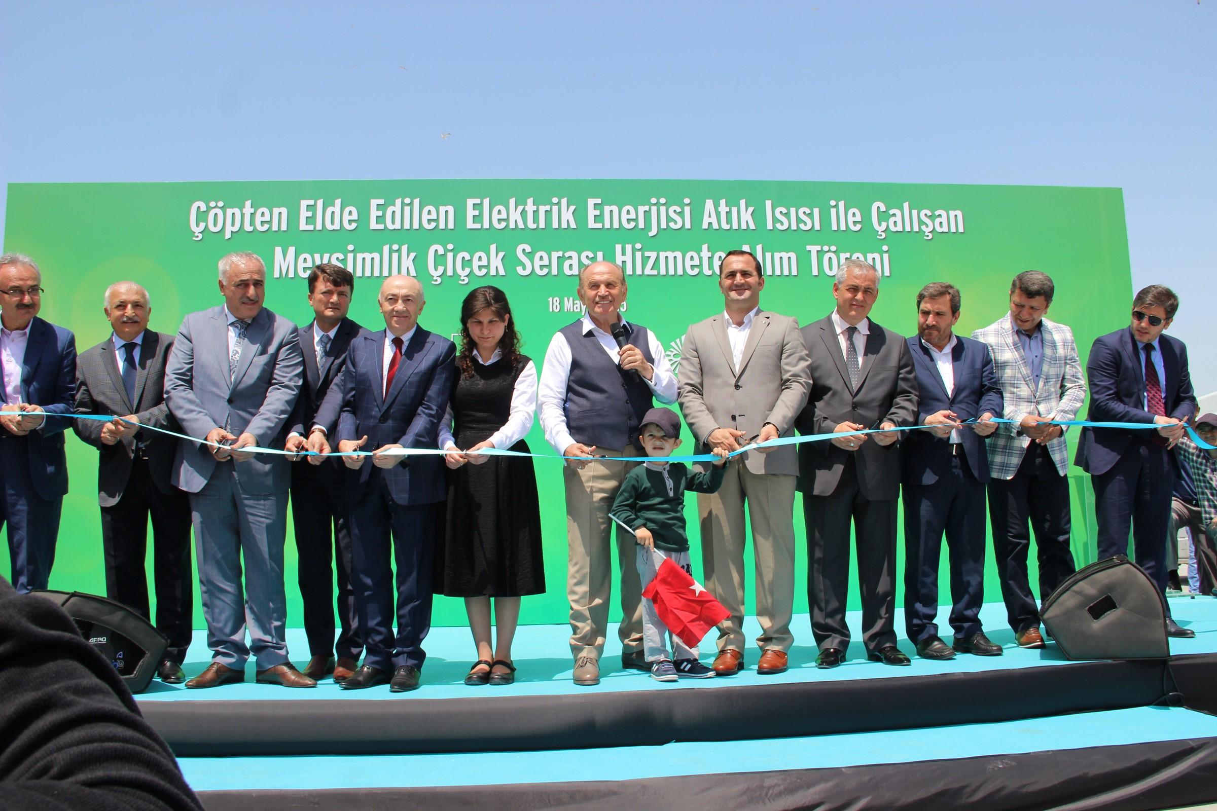 Çöpten Elde Edilen Elektrik Enerjisi Atık Isısı ile çalışan Mevsimlik Seramızın Açılış Yapıldı.