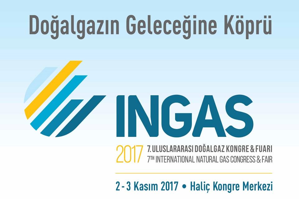 2-3 Kasım 2017 tarihlerinde 7. Uluslararası Doğalgaz Kongre ve Fuarındayız
