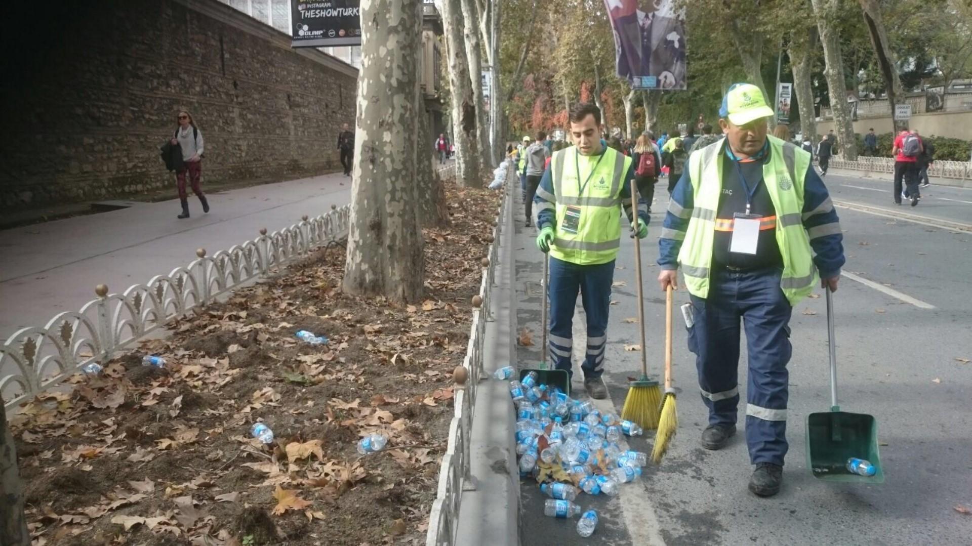 Yeşil Maraton İçin Temizlik Ekiplerimiz Çalışıyor