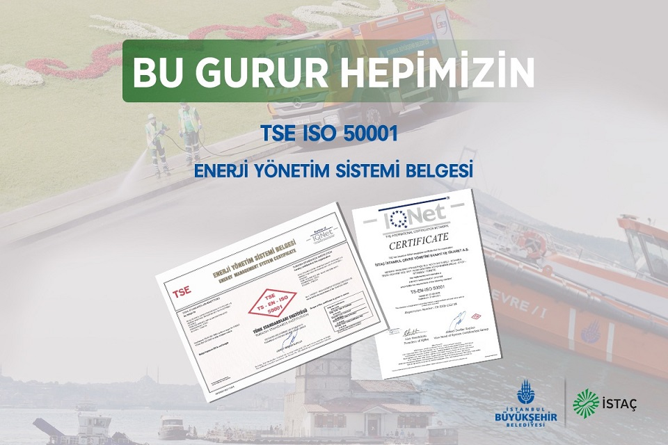 TSE'den İSTAÇ'a Enerji Yönetim Sistemi Belgesi